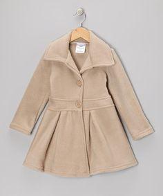 Tan Button Coat - Infant, Toddler & Girls by Bella's Boutique #zulily #zulilyfinds