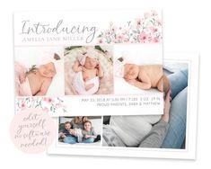 Newborn Birth Announcements, Baby Boy Birth Announcement, Birth Announcement Template, New Baby Girls, Baby Birth, Heart Designs, Newborn Photography, New Baby Products, Highlight