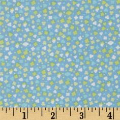 Bobo Baby Confetti Blue from @fabricdotcom  Designed by Maggie and Flo for Benartex Fabrics, this cotton print is perfect for quilting, apparel and home decor accents. Colors include blue, green and white.