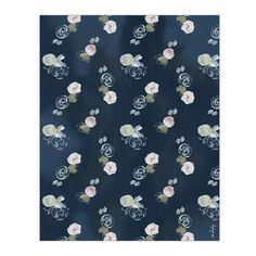 Blue Florals Wrapping Paper – Our Heiday