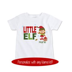 523af92d0 Items similar to Matching Sibling Christmas outfits, little sister Elf Shirt,  New baby gift, Toddler boy Christmas coordinating sibling shirts, ...