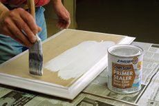 Tips for Painting MDF:  Seal the edges with drywall putty to ensure a consistent coat when painting medium density fiberboard