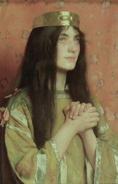 La reine Clothilde par Thomas Cooper Gotch en 1894