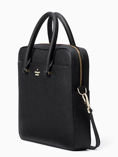 Shop the black saffiano laptop bag at Kate Spade New York official UK website. Best Laptop Backpack, Backpack For Teens, Laptop Bags, Satchel Backpack, Leather Laptop Bag, Leather Shoulder Bag, Shoulder Bags, Purses And Handbags, Leather Handbags