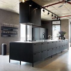 Vipp kitchen is the new black #vippkitchen #vipp #akitchentomatchyourbin