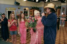 Jason Earles, Emily Osment, Miley Cyrus, Dolly Parton and Billy Ray Cyrus