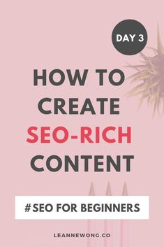 This pin shows learning to create SEO-rich content that gives you the ability to utilize search engine optimization.