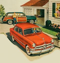 Two Ford Family - 1950