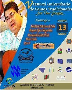 """@Regrann from @amcon.concretos -  Te invitamos al CONCIERTO DE GALA FUNCAT 2016 del """"V Festival Universitario de Cantos Tradicionales José Cheo González"""" este viernes 13 de Mayo a las 4:00pm en el auditorio de la Universidad Corporativa SIGO.  Felicitamos a la junta directiva del CEDIMN y la UNA Nueva Esparta por esta hermosa iniciativa.  Amcon Concretos apoyando nuestra cultura apoyando lo nuestro... Pasión Amcon.  #AmconConcretoss #HagamosFuturo #ConstruyamosJuntos #Regrann"""