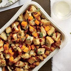 Butternut-Bacon Stuffing | CookingLight.com