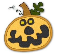 Jack-o-Lantern Applique 4x4 and 5x7   Halloween   Machine Embroidery Designs   SWAKembroidery.com Lynnie Pinnie