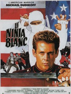 French poster for American Ninja The Confrontation (Sam Firstenberg, Ninja Japan, Ninja 2, Action Movie Poster, Action Movies, Beastmaster Movie, Kung Fu Movies, Image Film, Horror Monsters, Shadow Warrior