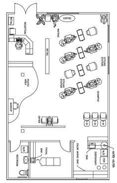 Salon Floor Plan Design Layout - 1390 Square Feet @RG P