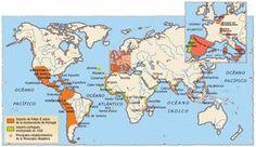 El Imperio español alcanzó los 20 millones de kilómetros cuadrados a finales del siglo xviii, aunque su máxima expansión se produjo entre los años 1580 y 1640, durante los reinados de Felipe II, Felipe III y Felipe IV, período en el que tuvo lugar la Unión Ibérica o unificación bajo la Corona Española de los imperios español y portugués