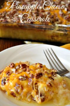 SWEET & SALTY BAKED PINEAPPLE CHEESE CASSEROLE  You Should Save This For Easter.  Perfect with Ham! http://recipesforourdailybread.com/baked-pineapple-cheese-casserole/