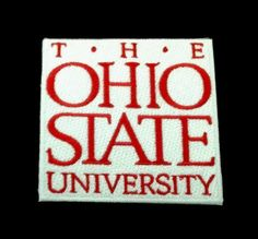 "THE OHIO STATE UNIVERSITY embroidered vintage Iron on Patch 3""x 3"" CLASSIC  