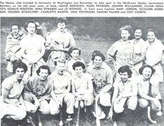1953-54 Oregon women's field hockey team. From the 1954 Oregana (University of Oregon yearbook). www.CampusAttic.com