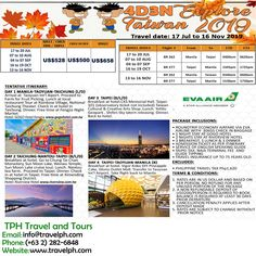 4 DAYS EXPLORE TAIWAN 2019 Minimum of 2 persons  For more inquiries please call: Landline: (+63 2)282-6848 Mobile: (+63) 918-238-9506 or Email us: info@travelph.com #Taiwan #TravelPH #TravelWithNoWorries Travel Dating, Child And Child, Adult Children, Taipei, Kid Beds, Manila, Explore, Day, Child Bed
