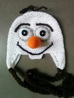 Made to order Frozen Olaf inspired crochet hat
