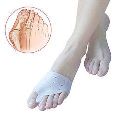 1pair=2pcs Hallux valgus Orthotics,Silicone Toes Separator The big Toe Bunion Corrector,Daily Use Foot Care Tool Orthopedic pad