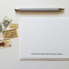 Think of You Often   Of Note Stationers