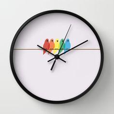 Birds+Wall+Clock+by+Emma+J+Hardy+-+$30.00