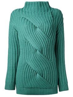 Designer Knitwear & Sweaters For Women - Knitting Chunky Cable Knit Sweater, Hand Knitted Sweaters, Chunky Knitwear, Wool Sweaters, Knitting Blogs, Baby Knitting, Knitted Baby, Handgestrickte Pullover, Big Knits
