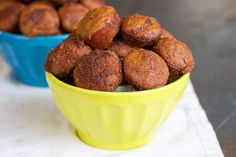 SCD Pumpkin Spice Poppers (*Substitute honey for sugar in coating or make a SCD legal coconut glaze...)