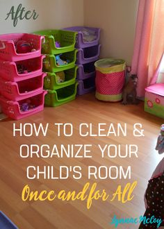 Yes you can clean and organize your child's room once and for all. It's not easy, but it is simple. A free printable will help your child do daily room maintenance once the room is clean.