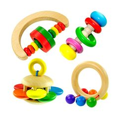 8 Layer Rainbow Wood Puzzle Stacking Ring Tower Building Block Education Toys 6L
