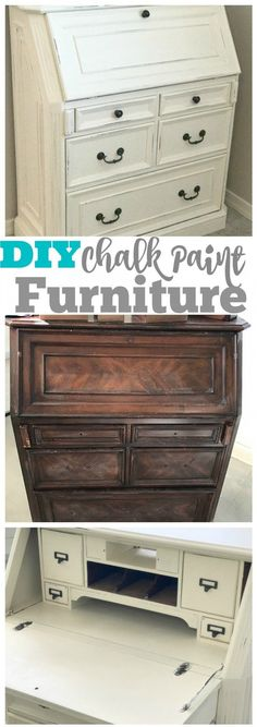 How to refinish an old piece of furniture with chalk paint! A DIY tutorial that shows how easy it is, anyone can do this with a little bit of elbow grease. via /amomstake/