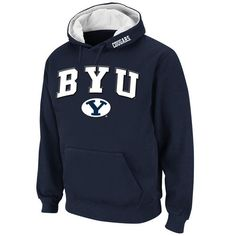 Stadium Athletic BYU Cougars Navy Arch & Logo Pullover Hoodie