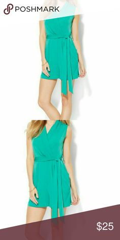 Nice Romper Softly pleated embellishment complements the feminine wrap silhouette on our sophisticated romper - totally on trend this season! New York & Company Other