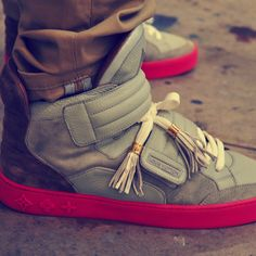 I must have these Louis Vuitton by Kanye West high tops! They range  anywhere from but it s totally worth it right  e8bb834b7b21