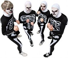 Cobra Kai Skeleton Costumes...would be good for Gabe.  He has Johnny's hair!
