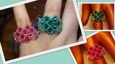 Beaded Heart Ring for Valentine's Day Beading Tutorial by HoneyBeads (Photo tutorial) Diy Jewelry Videos, Jewelry Making Tutorials, Beading Tutorials, Beading Patterns, Diy Beaded Rings, Diy Rings, Seed Bead Jewelry, Beaded Jewelry, Wire Jewelry