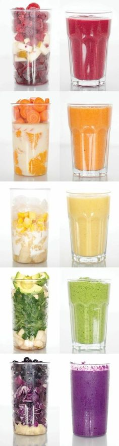 Healthy smoothie recipes to give you the boost of energy you need on Monday morning delivered right to your inbox each week! Perfect as a quick on the go meal for breakfast and for the whole family. Always compatible with a vegan vegetarian paleo g Smoothie Drinks, Healthy Smoothies, Healthy Drinks, Smoothie Recipes, Healthy Snacks, Healthy Eating, Smoothie Detox, Healthy Fruits, Vegetarian Smoothies