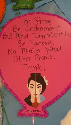 MULAN QUOTE Mulan Quotes, Child Development, Other People, Art Projects, Students, Children, Disney, Handmade, Young Children