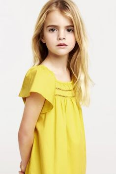 Yellow summer 2013 Simple look but perfect warm yellow to complement this little girls warm undertones.