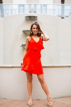 d4a51f2015b Salsa Girl Dress- Red Orange – The Impeccable Pig Dress Red