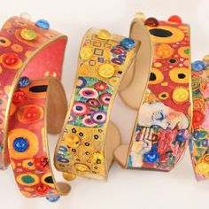 Make Gustav Klimt inspired jewelry with this simple craft stick DIY!  Use your…