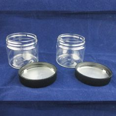2 Cosmetic Empty Jar Pot Eyeshadow Makeup Face Cream Container Lid Bottle Sample