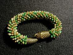Manufaktura Leo handmade bracelet  snake, Handmade Bracelets, Beaded Bracelets, Leather Working, Leo, Snake, Jewelry Making, Pearl Bracelets, A Snake, Jewellery Making