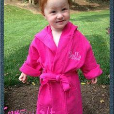 Kids Youth robes Hooded Monogrammed Kids spa by EmbellishThisLLC