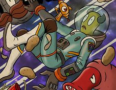 """Check out new work on my @Behance portfolio: """"SPACE FARMER"""" http://be.net/gallery/52613539/SPACE-FARMER"""