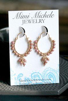Handmade wire wrapped earrings hoop earrings by MimiMicheleJewelry