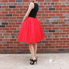 Red tulle skirt is what you need ❤️| Skirt: Cassie 7-layers midi tulle skirt #cestcany #tulleskirt #tulleskirts #tulle #tutu #adulttutu #tutuskirt #puffyskirt #bridal #bridalskirt #bridaloutfit #bridesmaids #engagement #engagementphotoshoot #plussize #fashionshop #instafashion #shopping #fashion #style #dressup #curvybeauty #engagementoutfit #stylish #redskirt #outfit #redandblack #etsy #etsyusa