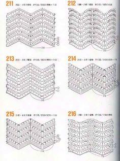 variations of the basic chevron stitch - link is foreign with no pattern instrPontos e Roupas com ponto Zig ZagISSUU - 262 Patrones de crochet by Darling GabellaRipple stitches onlyPart ripple stitch (total 2 parts)images about Crochê pontosChevron Chevrons Au Crochet, Crochet Zig Zag, Motif Zigzag, Crochet Ripple, Zig Zag Pattern, Love Crochet, Irish Crochet, Chevron Patterns, Crochet Solo