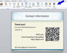 QR Code Addin for PowerPoint | PowerPoint Presentation