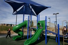 Play structure at Knickerbocker Park